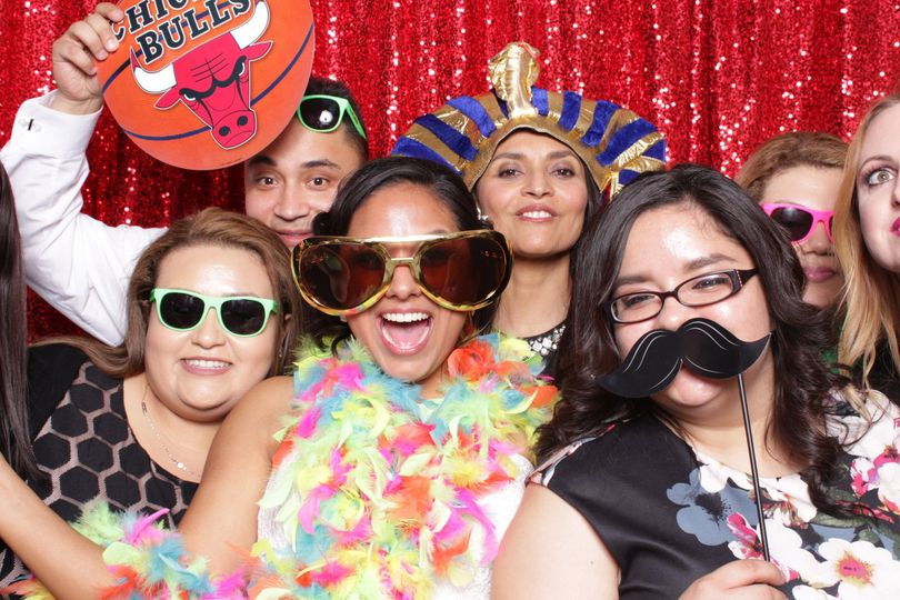 Our luxury open air photobooth prints top quality images and we provide custom props for each event