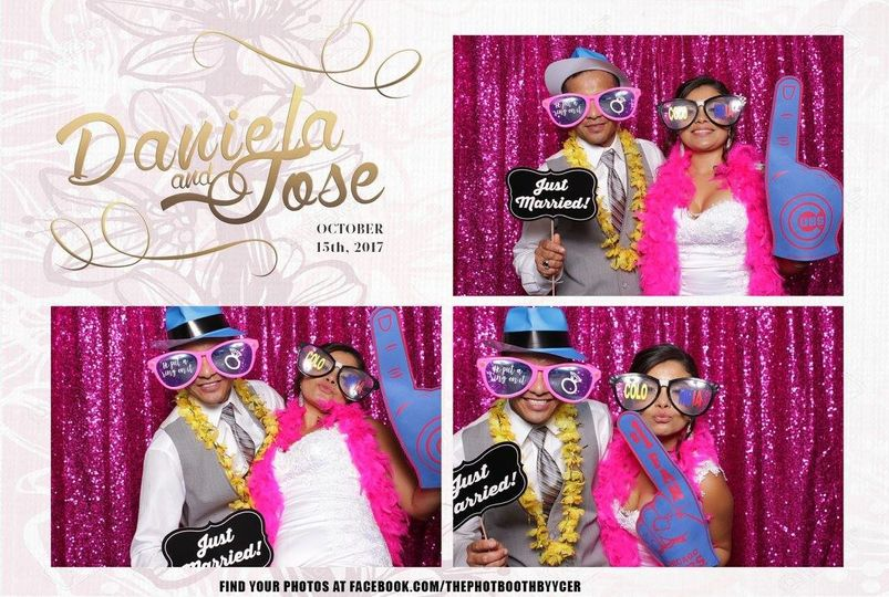 Custom templates and props are included in our photobooth packages
