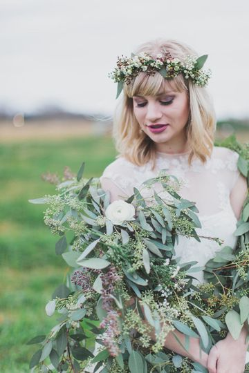 Princess Bridal Styledshoot. Rachel is modeling the garland from NanaKays divinely.  Photographer:...