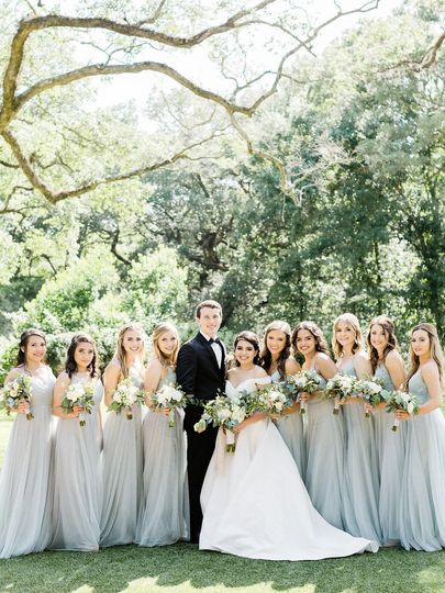 Truly one of the best days ever, these Jenny Yoo Bridesmaid dresses were perfection and the floral...