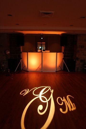 DJ station with lighting