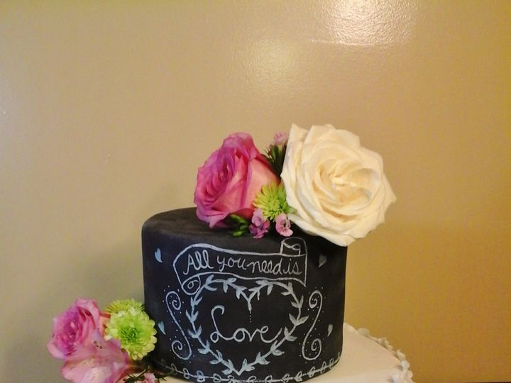 Tmx 1456844014691 Chalkboard Waterville, ME wedding cake