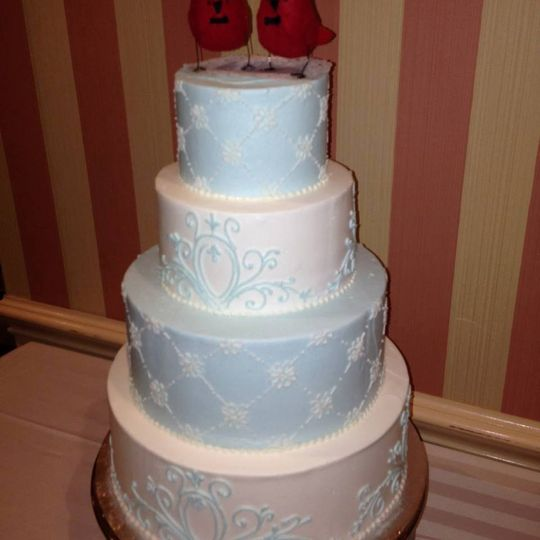 You can choose from one of our many wedding cake designs or we can replicate a design that you...