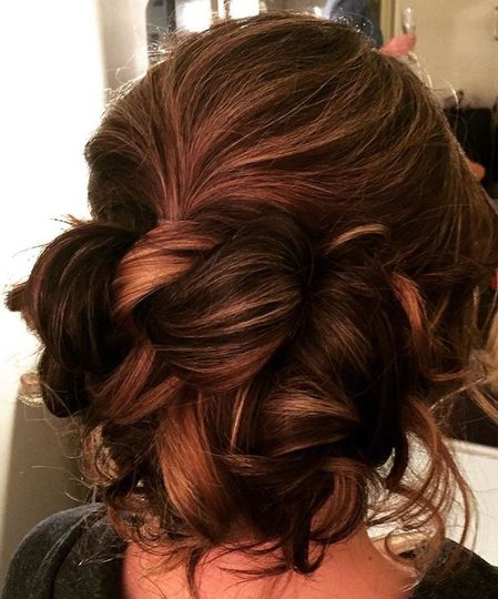 Curled wedding hair