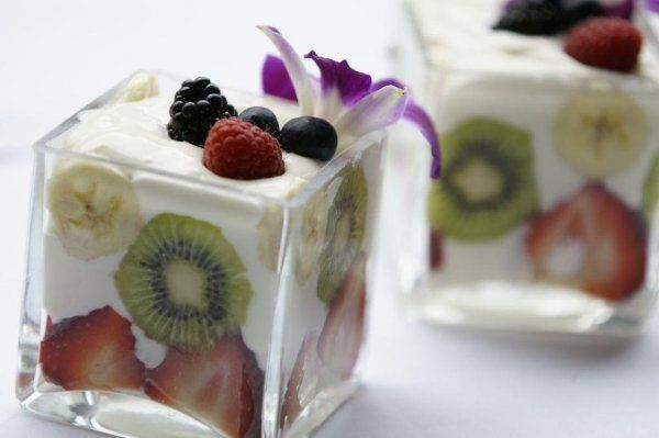 Individual Fruit Trifles With Russian Cream