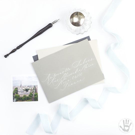 """The KAPD """"Antoinette Dubois"""" script features an elegant elongated calligraphy. Perfect for a french..."""