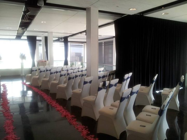 Ceremony Set-Up @Ventanas - Downtown Atlanta