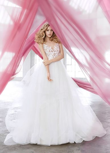 blush hayley paige bridal lace tulle ball gown sca