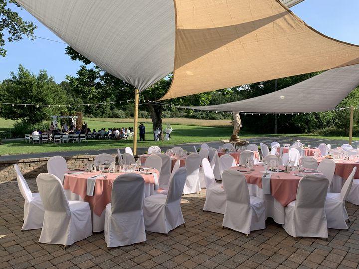 Ceremony then outdoor receptio