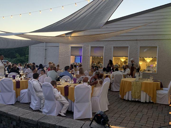 Evening Wedding Patio