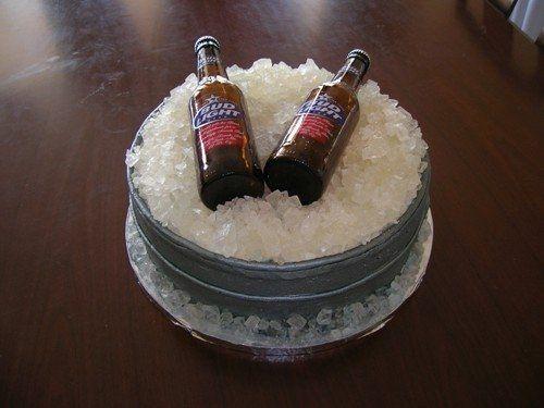 Beer bucket groom's cake