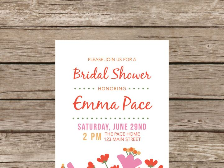 Tmx 1373583695725 Floralshower2 Tulsa wedding invitation