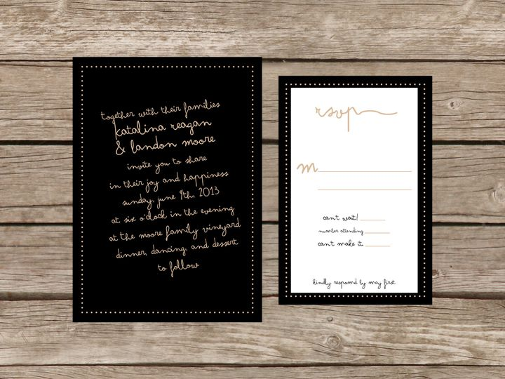 Tmx 1373583937872 Hollywoodsuite Tulsa wedding invitation