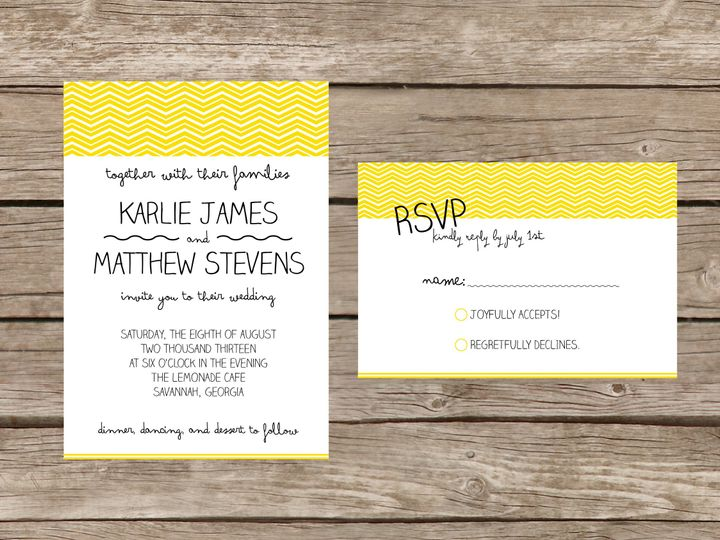 Tmx 1373584026482 Lemonsuite Tulsa wedding invitation