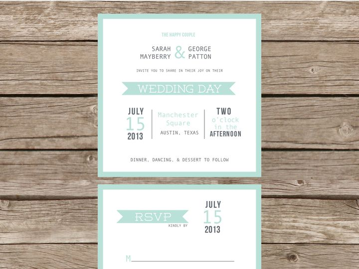 Tmx 1373584108058 Mintsquaresuite Tulsa wedding invitation