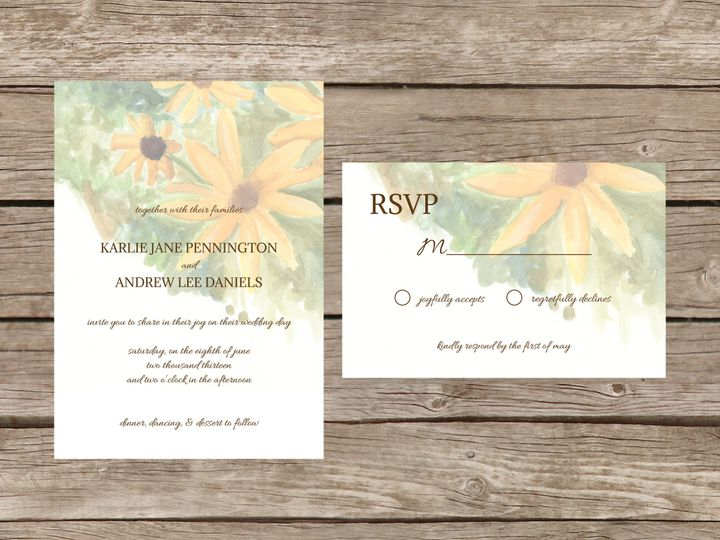 Tmx 1373584333778 Sunflowersuite Tulsa wedding invitation