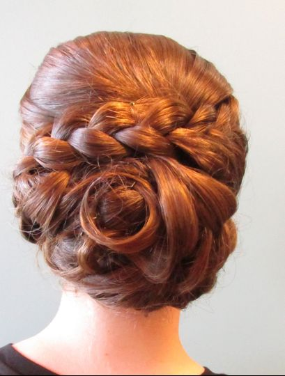 Clean updo with braid