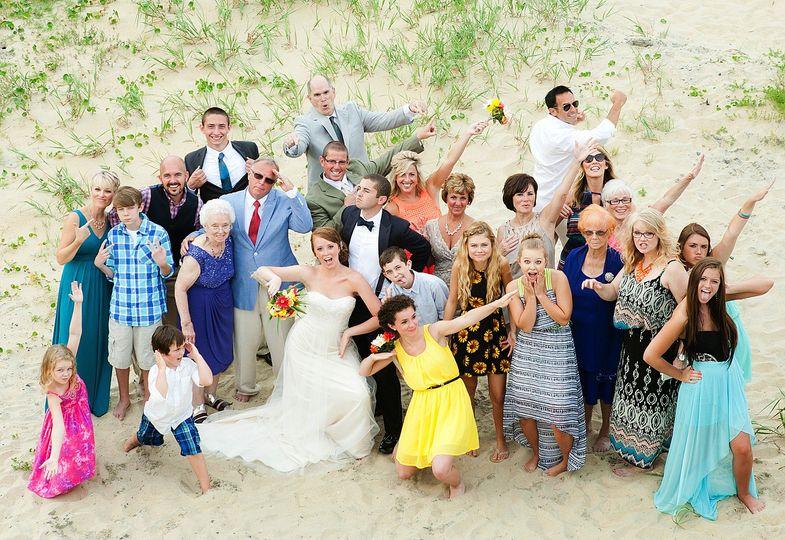 wedding photos from a beach wedding in nags head 3