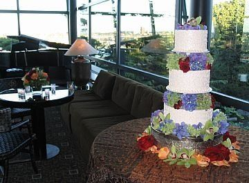 We have decorated hundreds of wedding cakes with flowers.