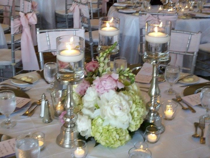 Tmx 1449504214290 Table With Silver Stands Winston Salem, North Carolina wedding florist