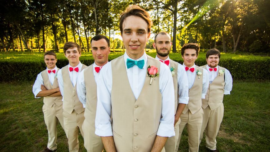 Hunter and His groomsmen had a blast and the weather couldn't have been better! (the groom had to...