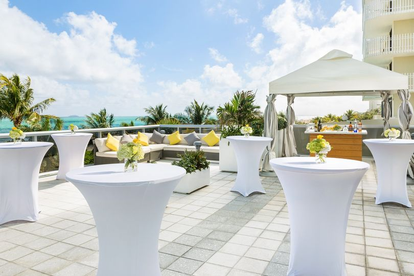 Reception on the pool deck