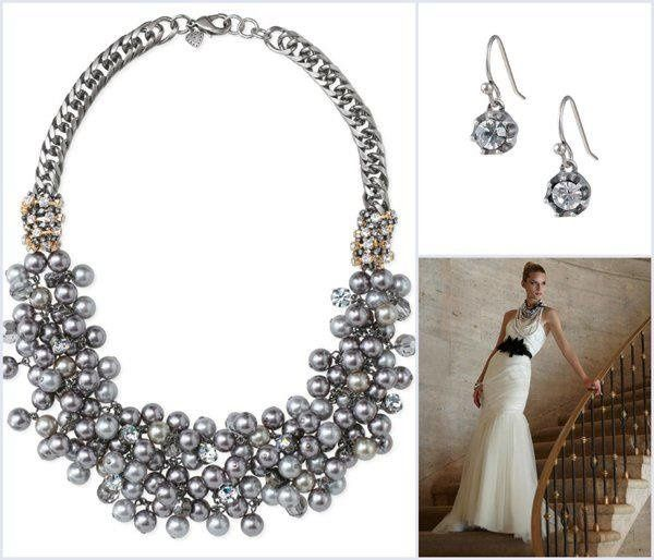 Over 100 acrylic pearls are carefully hand assembled onto a hematite plated brass chain. Cupchain...