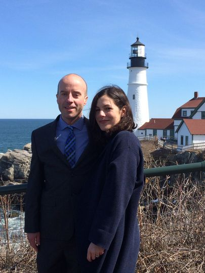 A spring elopement at ft. Williams/portland head light in cape elizabeth.