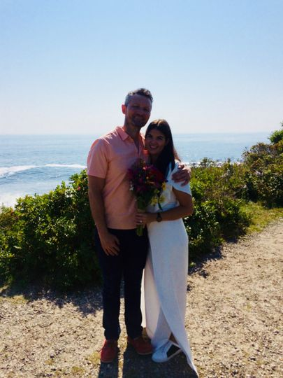 An elopement at two lights state park in cape elizabeth. One of our favorite places!