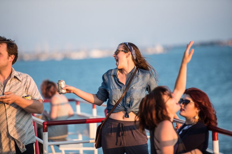 Dancing on the top deck