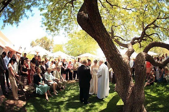 A beautiful ceremony on the grounds of the Hermosa Inn, Paradise Valley, Arizona