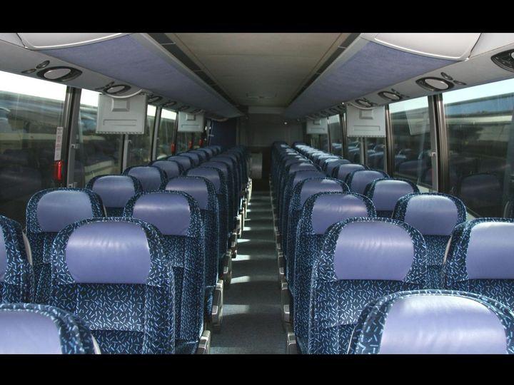 Tmx 1484858751354 56 Passenger Bus Interior F2b Dumfries wedding transportation
