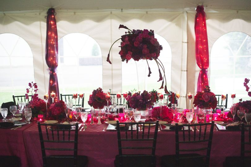 Red theme wedding