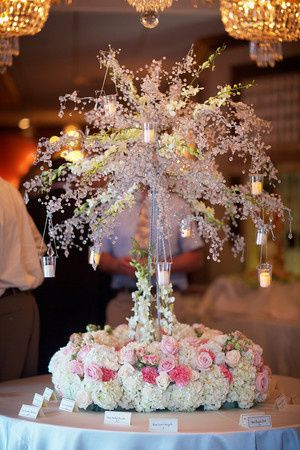escort card crystal tree