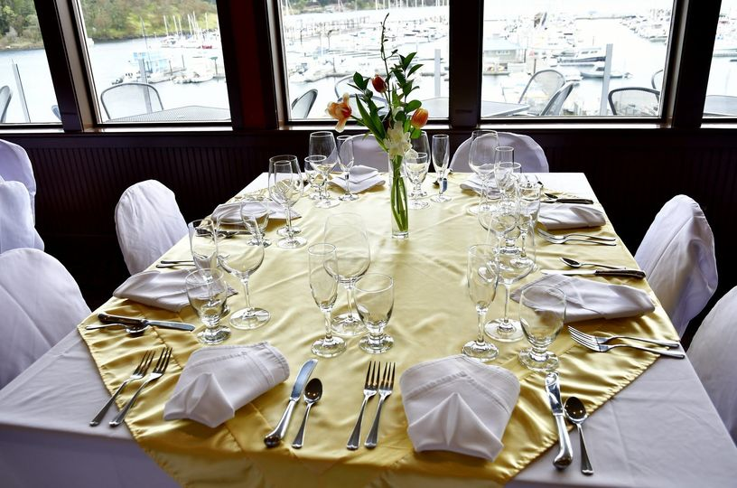 The only Friday Harbor venue with waterfront views from your tables