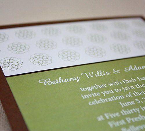 Flat style invitation.