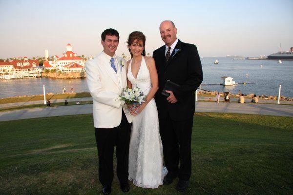 Wedding overlooking the bay