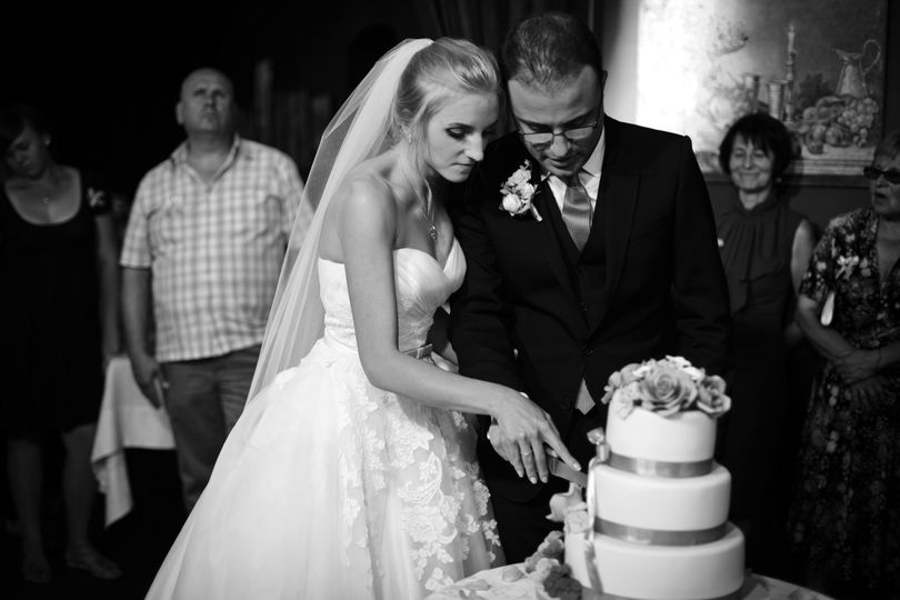 Rosalind and Steve- cake cutting pros - and they're first dance was a hoot!