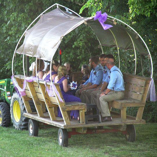 Wedding party's ride