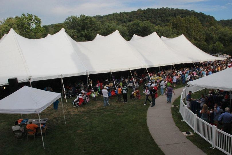 This event is the annual Jazz Festival at Fort Hunter Park, Harrisburg PA. Shown here is a 60 X 170...