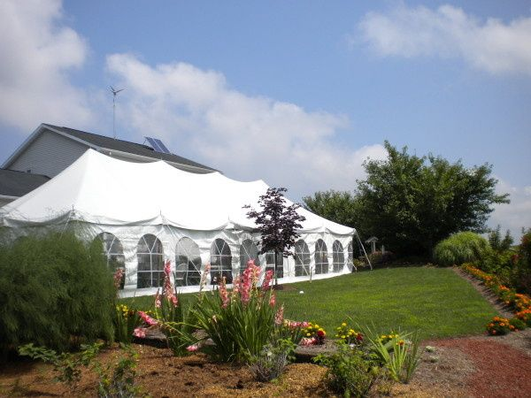 20 x 50 pole tent for a backyard party