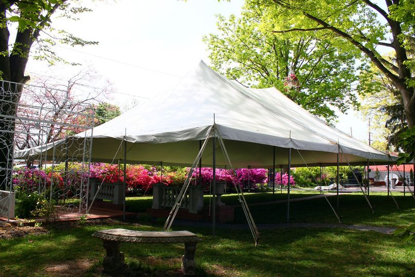 This is a 40 X 60 Pole tent for a wedding ceremony.