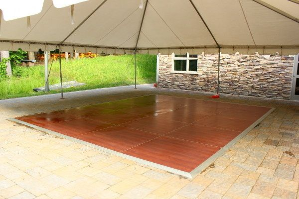 Cherry finish Dance Floor. Size: 16X16