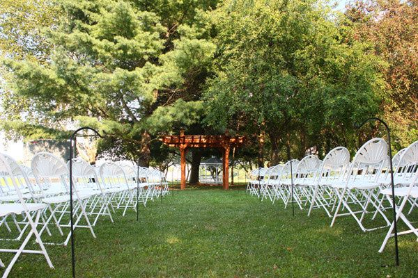 Fanback Chairs set up for a wedding reception near Mifflinburg, PA