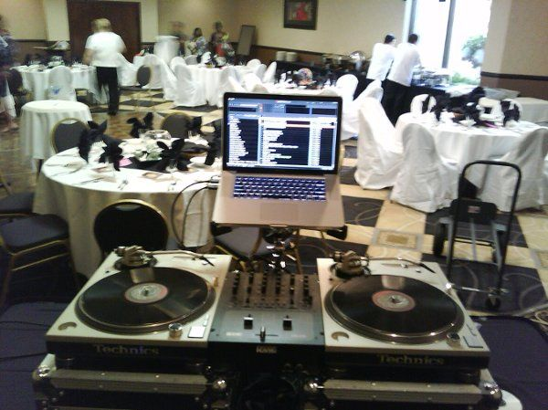 Reception setup for wedding event