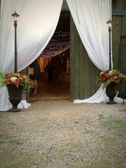 Wedding entrance of the venue