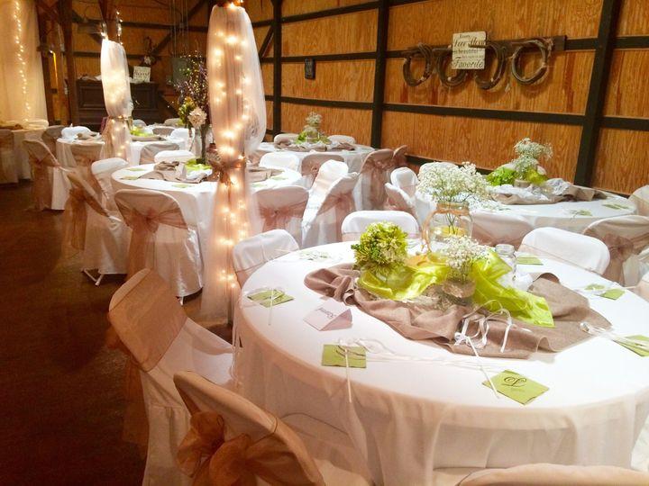 White motif table setup