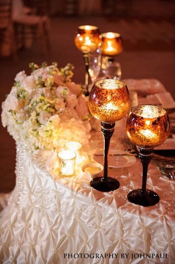 Bridal table set-up