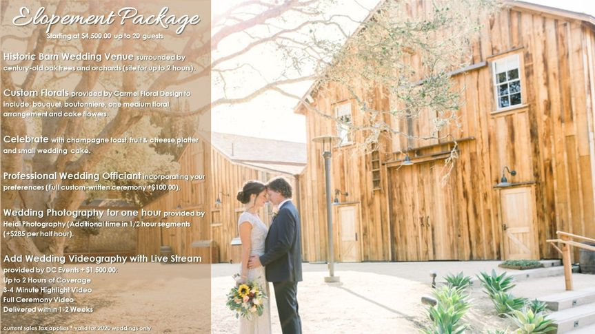 barns elopement package 51 992784 159052605194452