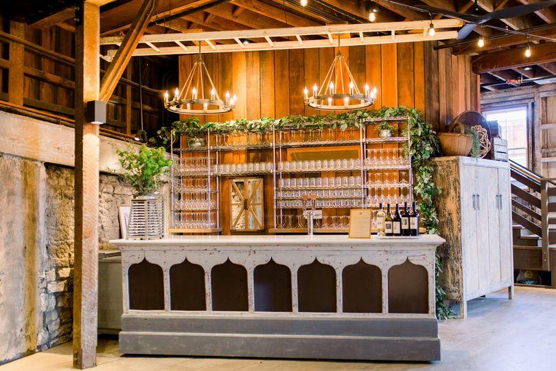 Inside bar at barns
